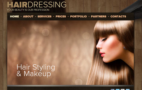 hairstyle website template free hair