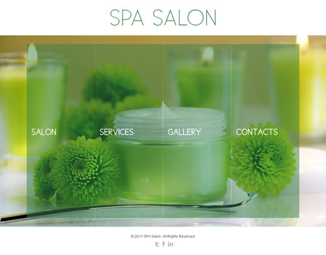 Green Candle Salon Theme